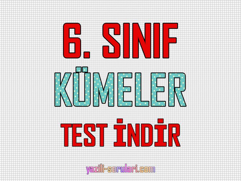 6. sınıf kümeler testi pdf