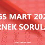 LGS 2020 MART ÖRNEK SORULAR