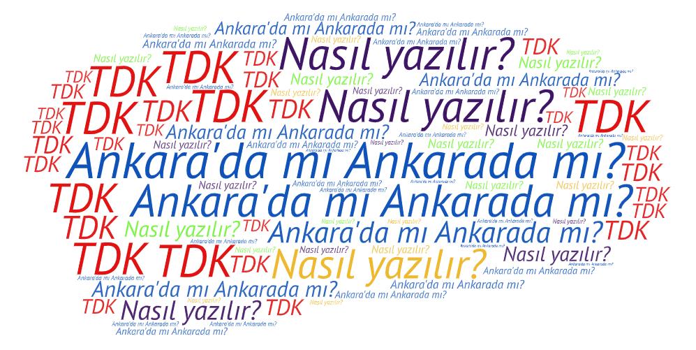 Ankara'da nasıl yazılır?